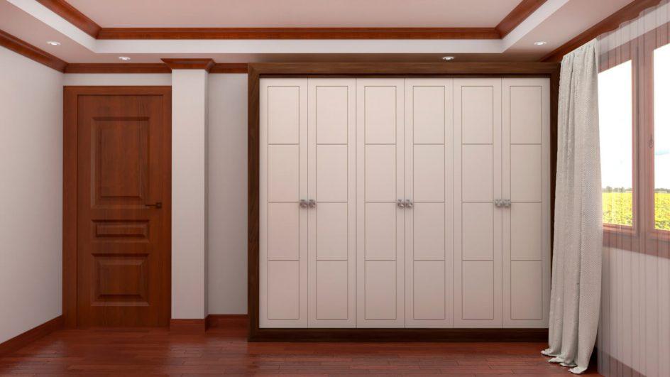 armario dormitorio fabricado a medida blanco