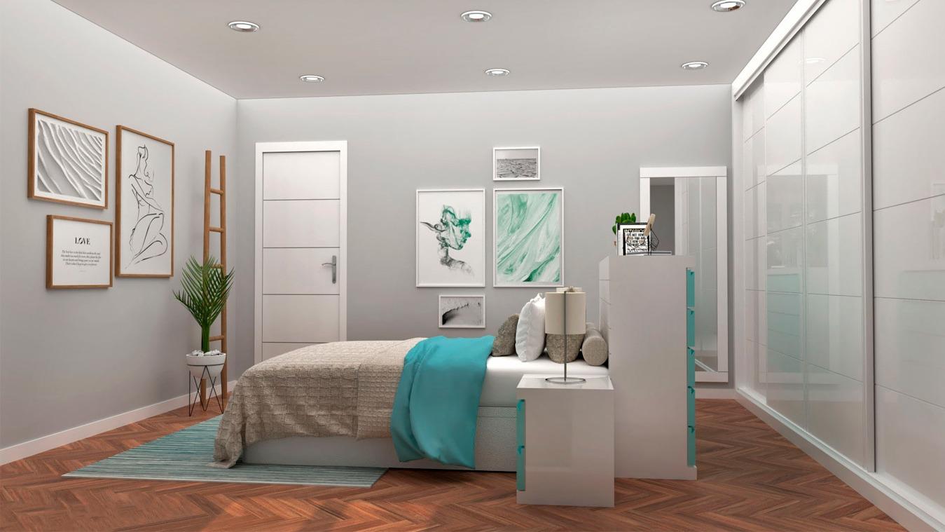 Dormitorio modelo GRANITO SOLAPADO - Ref. 0021