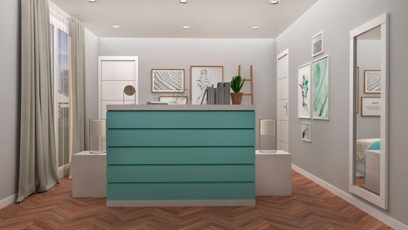 Dormitorio modelo GRANITO SOLAPADO - Ref. 0022