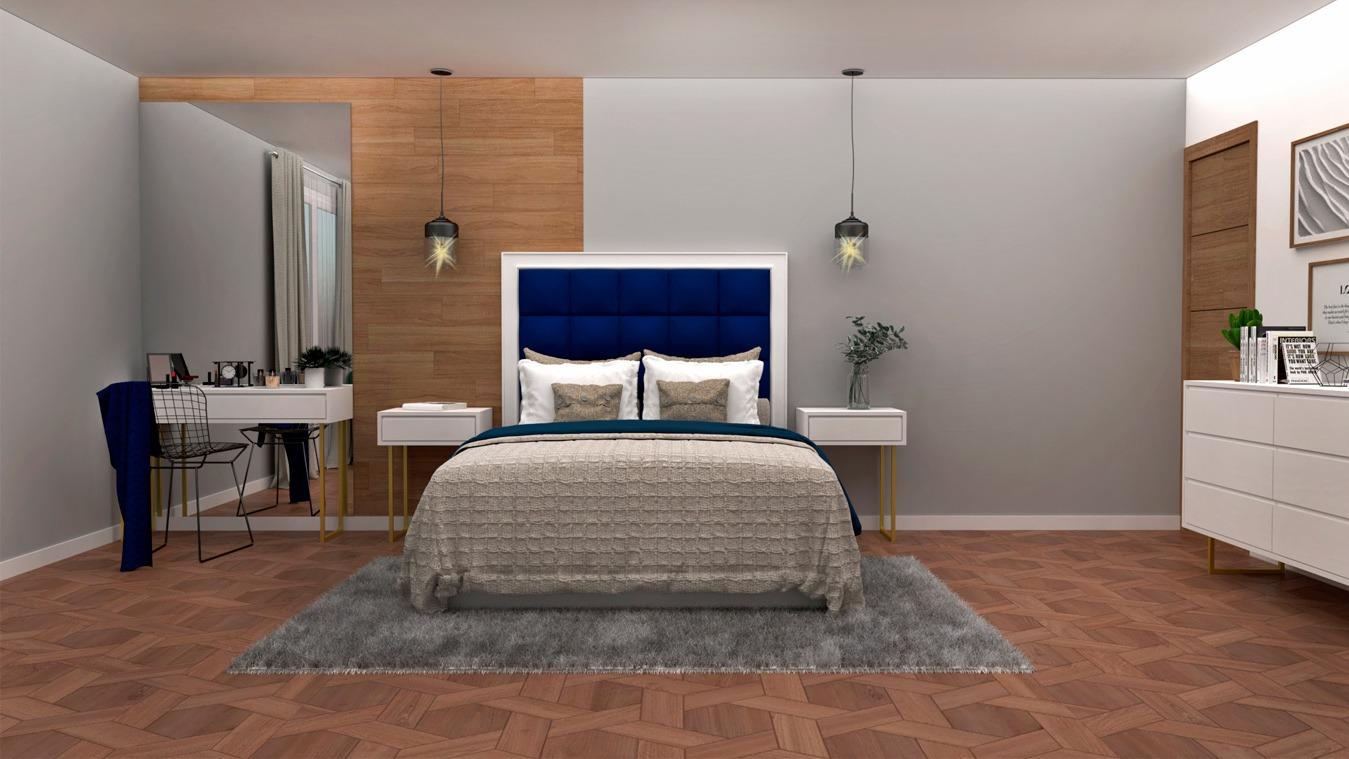 Dormitorio modelo INDUSTRIAL DORADO - Ref. 0004