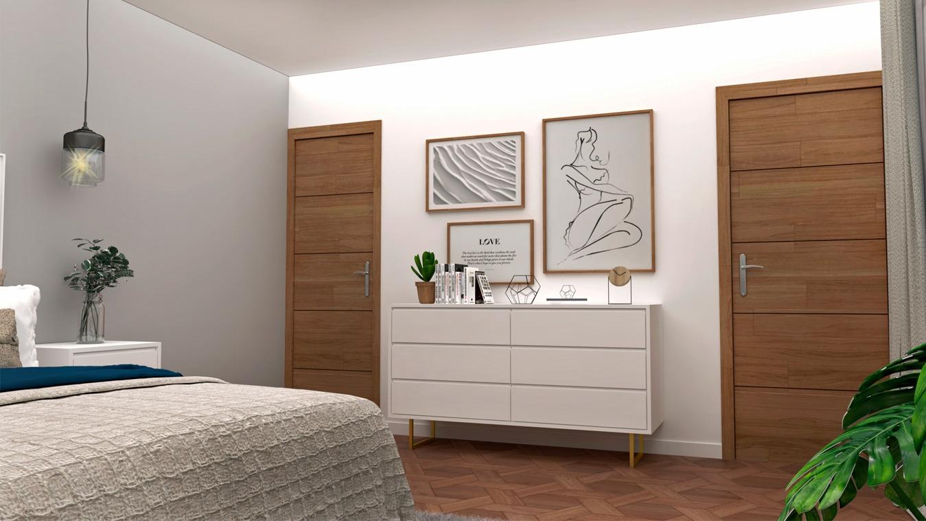 Dormitorio modelo INDUSTRIAL DORADO - Ref. 0005