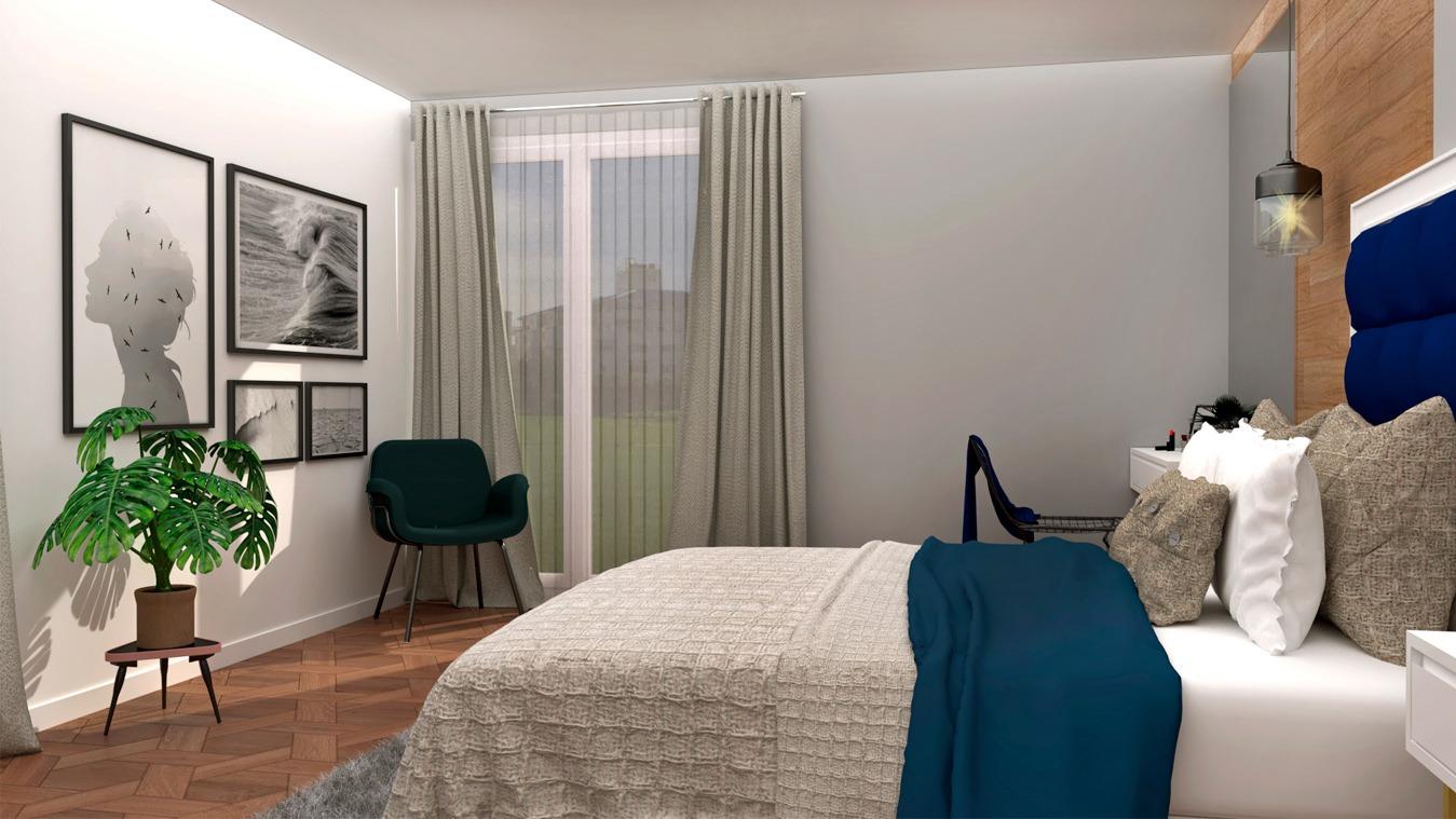 Dormitorio modelo INDUSTRIAL DORADO - Ref. 0006
