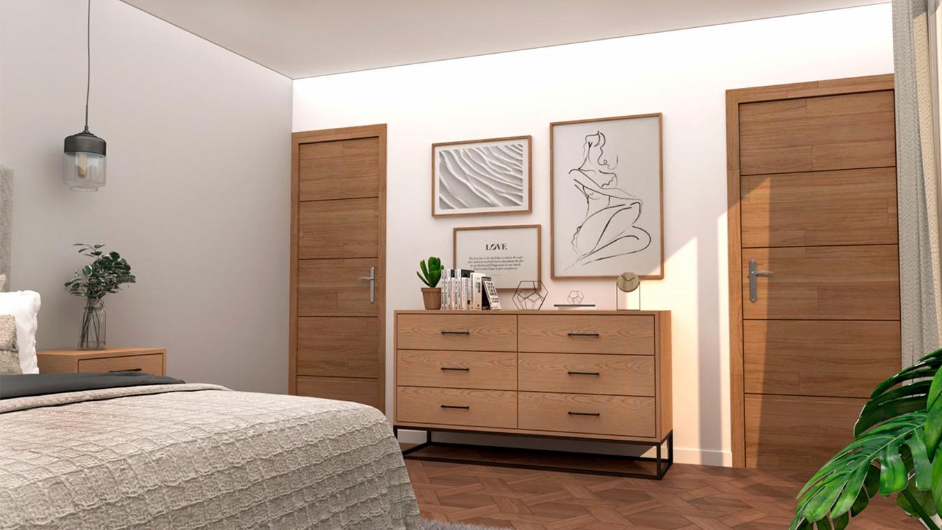 Dormitorio modelo INDUSTRIAL - Ref. 0002