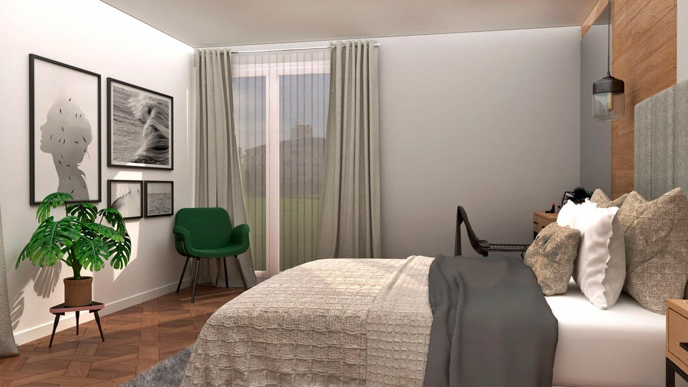 Dormitorio modelo INDUSTRIAL - Ref. 0003