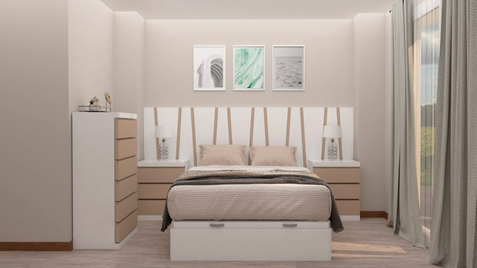 Dormitorio modelo MODERNO KANSAS - Ref: 0031