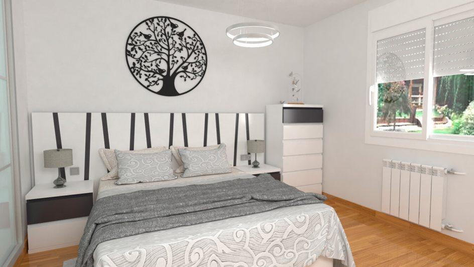 Dormitorio modelo MODERNO KANSAS - Ref: 0033