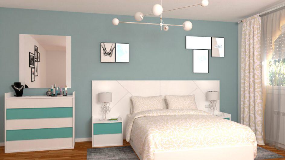Dormitorio modelo MODERNO - Ref: 0500