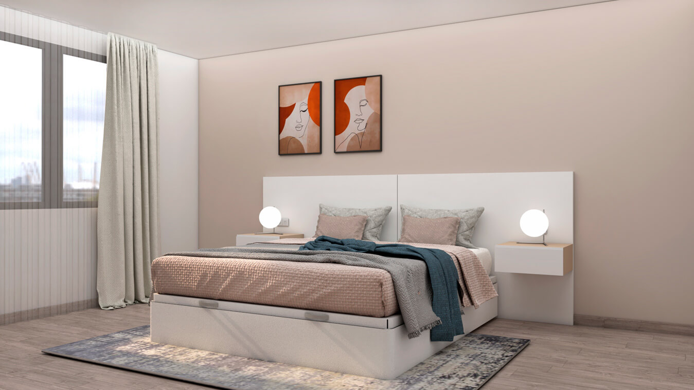 Dormitorio modelo MODERNO - Ref: 0494
