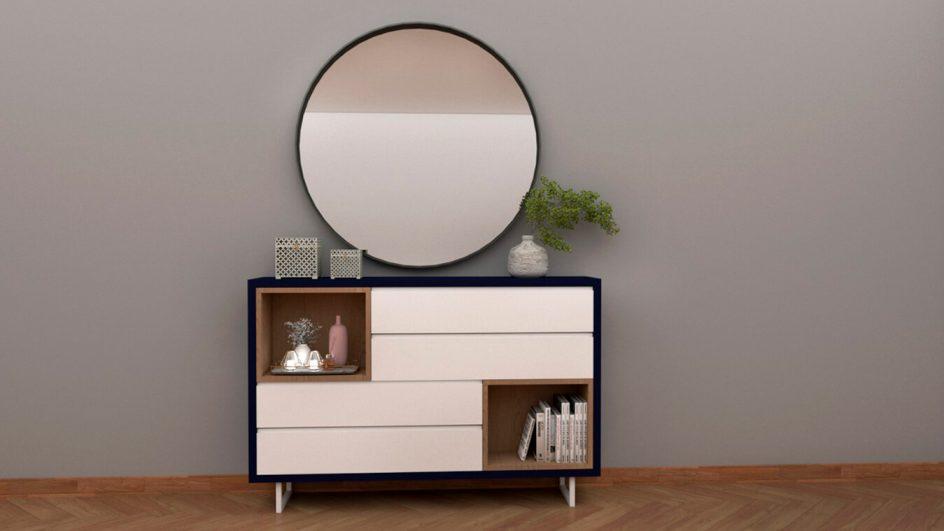 muebles de entrada con espejo