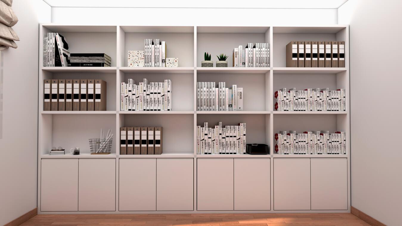 mueble de color blanco de diseño