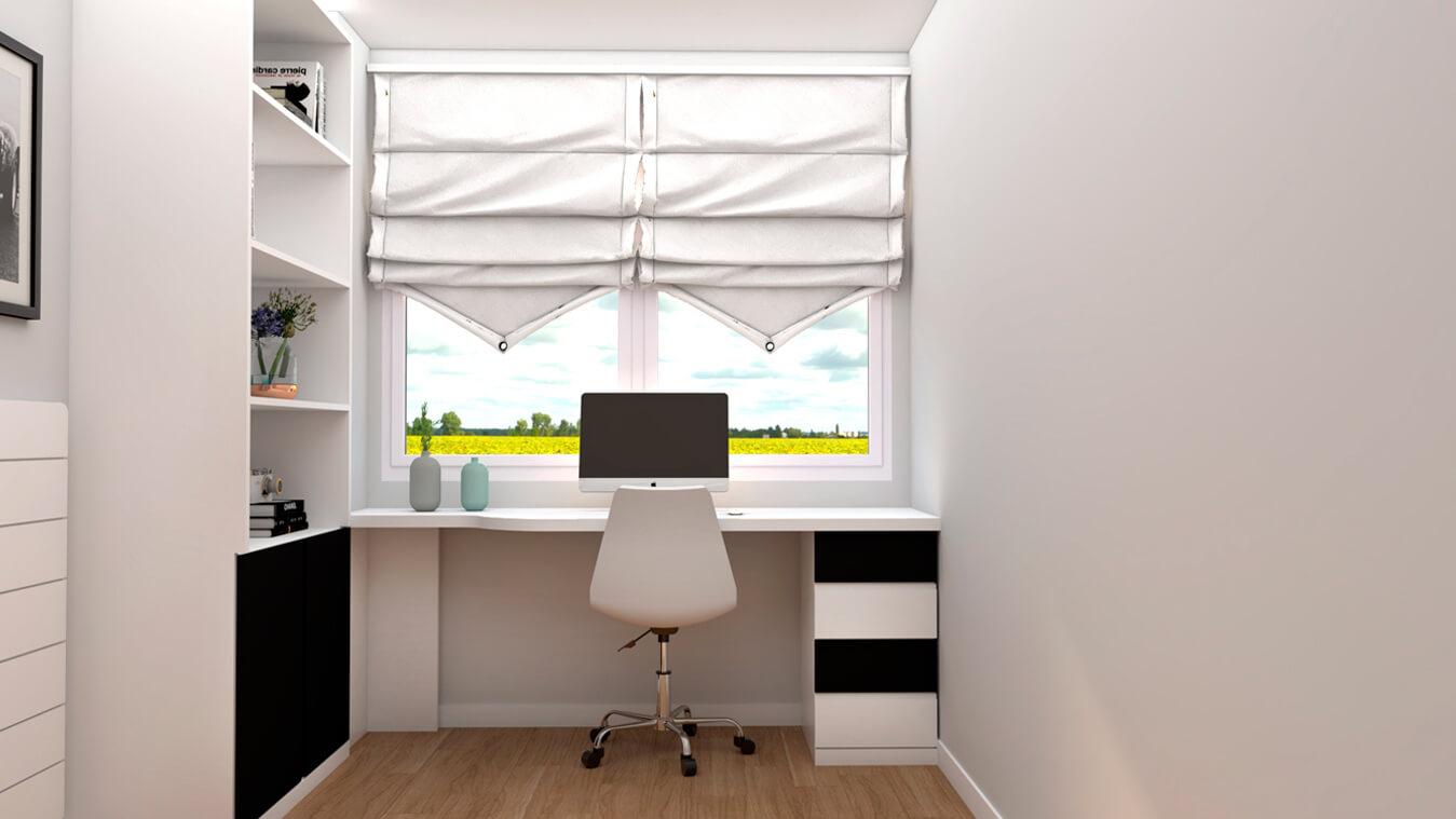 mesa de escritorio y armario