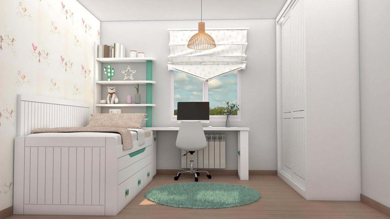 Dormitorio Juvenil COMPACTO - Ref: 0494