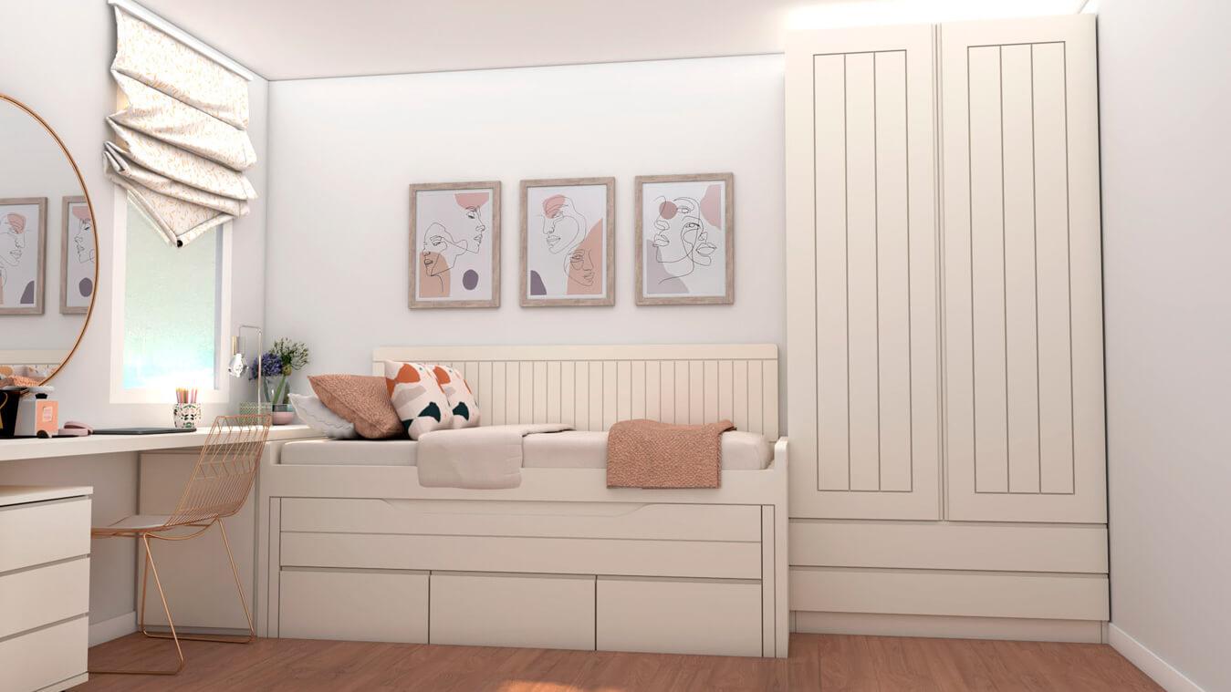 Dormitorio Juvenil COMPACTO - Ref: 0489