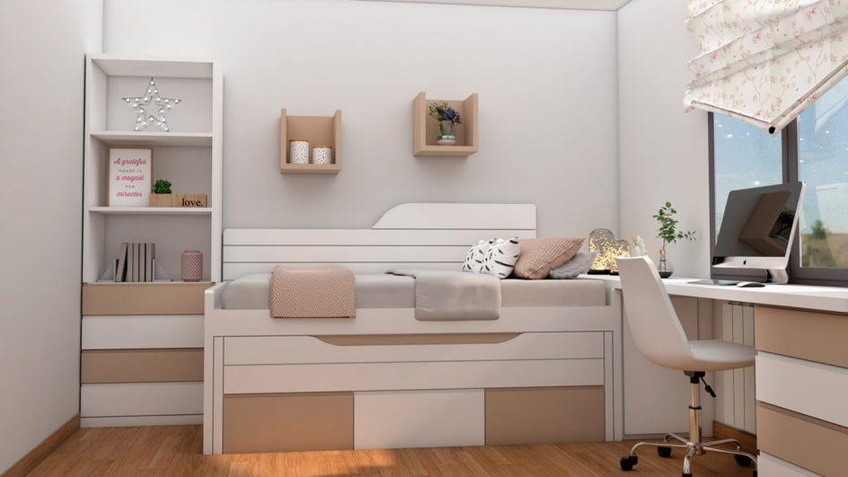 Dormitorio Juvenil COMPACTO - Ref: 0486