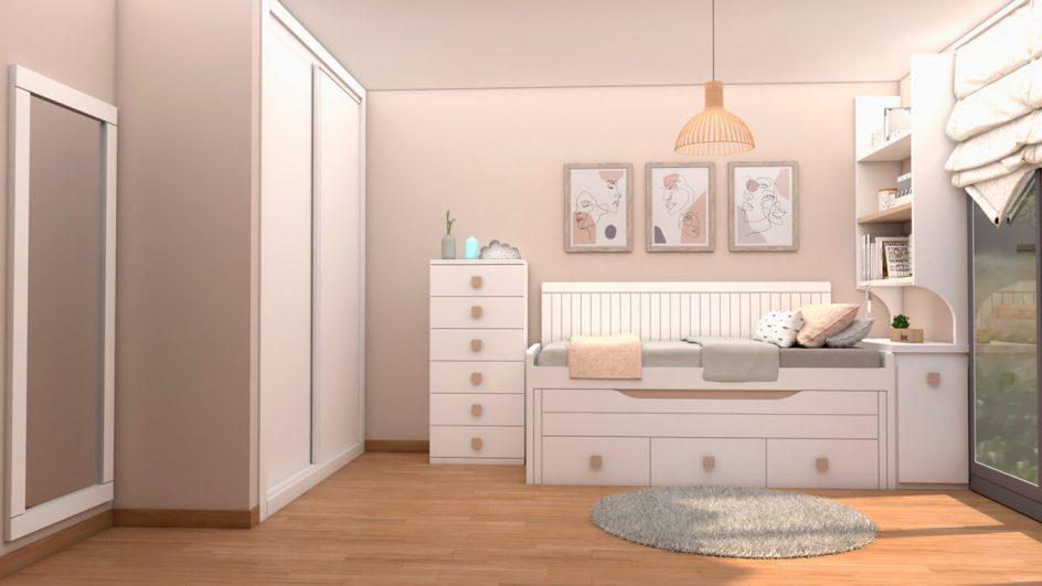 Dormitorio Juvenil COMPACTO - Ref: 0487