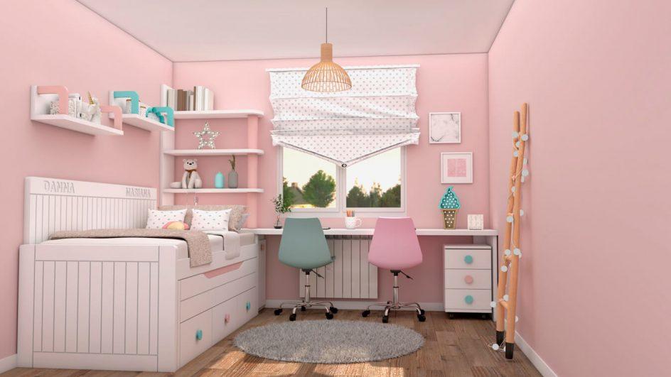 Dormitorio Juvenil COMPACTO - Ref: 0485