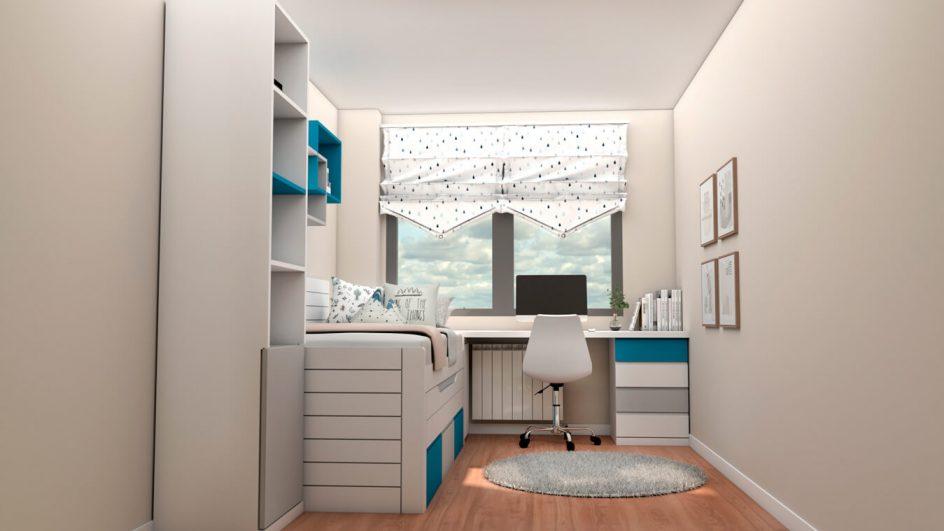 Dormitorio Juvenil COMPACTO - Ref: 0483