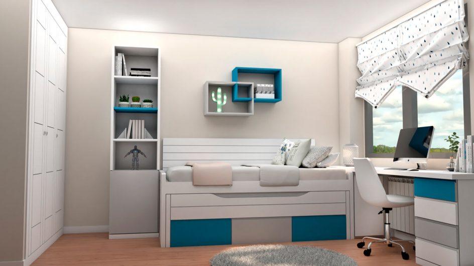 Dormitorio Juvenil COMPACTO - Ref: 0484