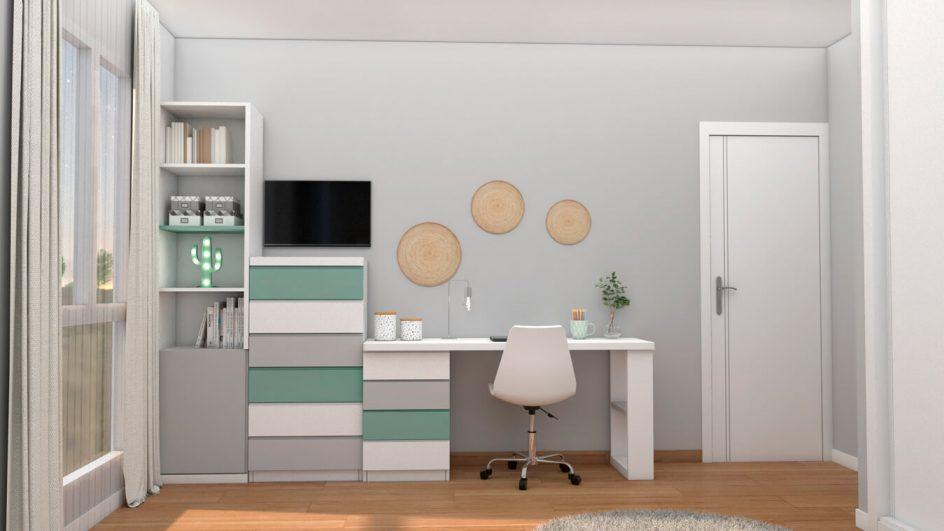 Dormitorio Juvenil INDEPENDIENTE - Ref. 0013