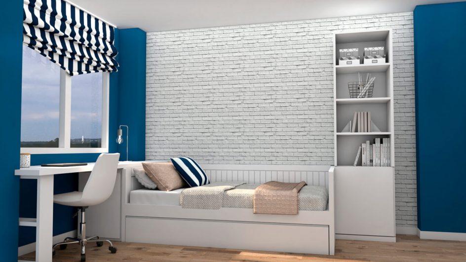 Dormitorio Juvenil CAMA NIDO - Ref: 0489