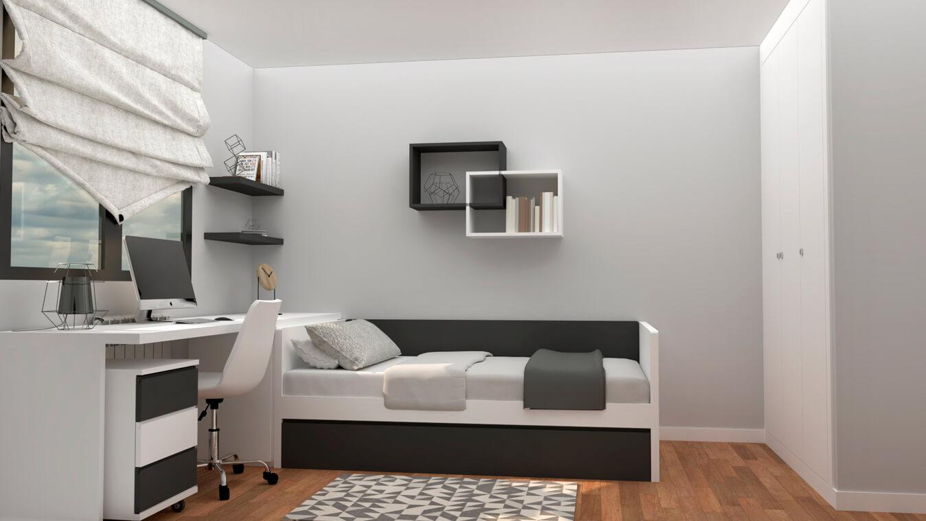 Dormitorio Juvenil CAMA NIDO - Ref. 0044