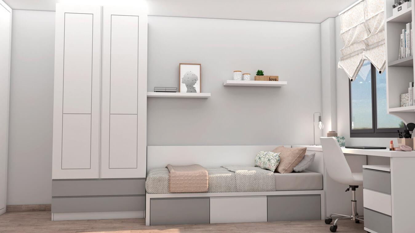 Dormitorio Juvenil TATAMI - Ref: 0494