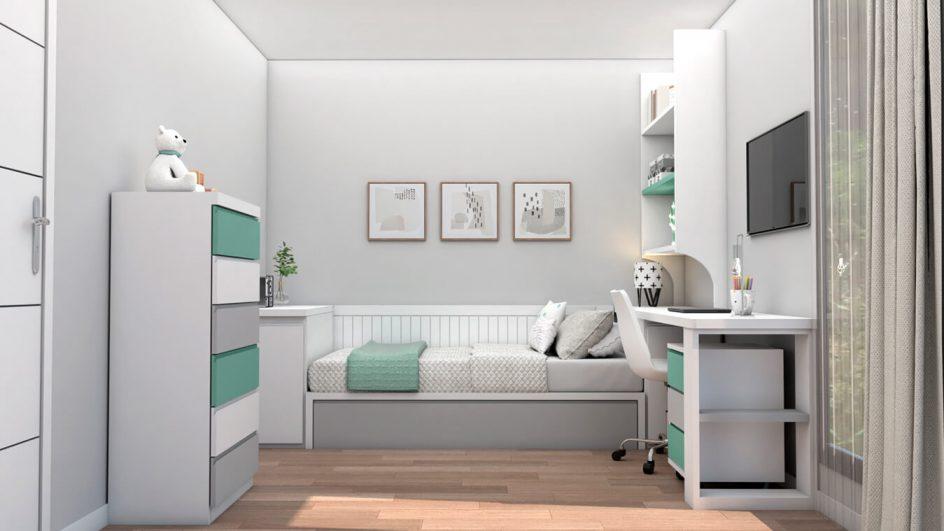 Dormitorio Juvenil TATAMI - Ref: 0491
