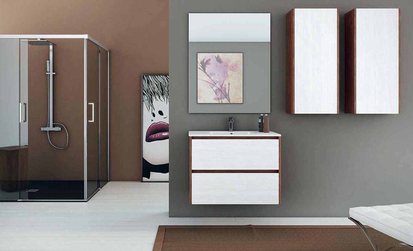 Mueble de Baño STRATO NOGAL - STRATO BLANCO BLENDED - Ref. 0015