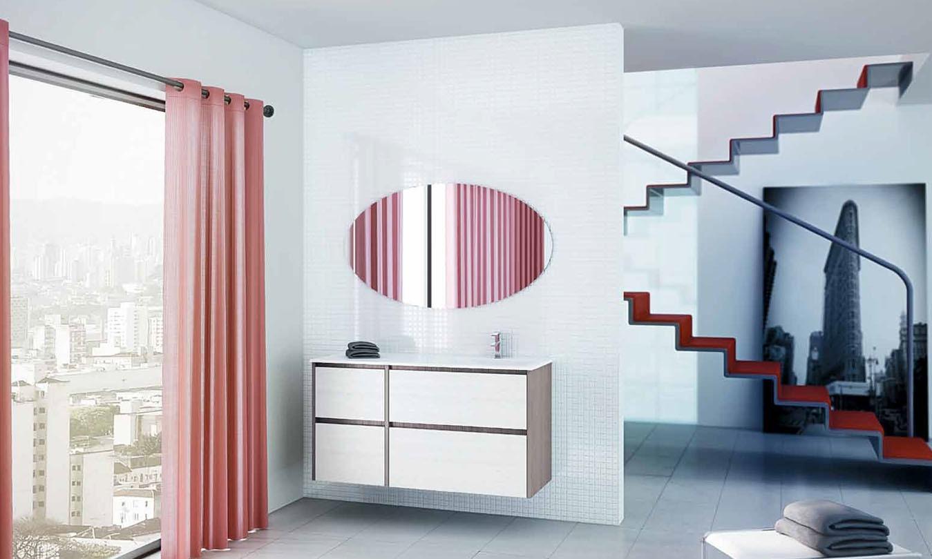 Mueble de Baño STRATO LIGHT GREY - STRATO BLANCO - Ref. 0017