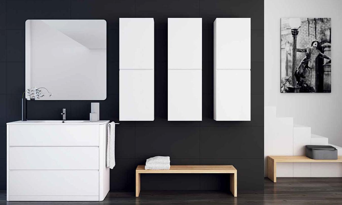 Mueble de Baño LACADO BLANCO BRILLO - Ref. 0019