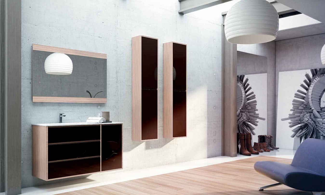 Mueble de Baño LACADO STRATO NOYER - LACADO CHOCOLATE BRILLO - Ref. 0024
