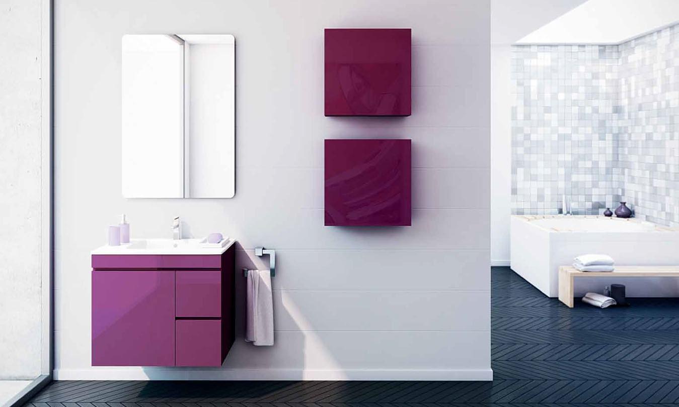 Mueble de Baño LACADO BERENJENA BRILLO - Ref. 0030