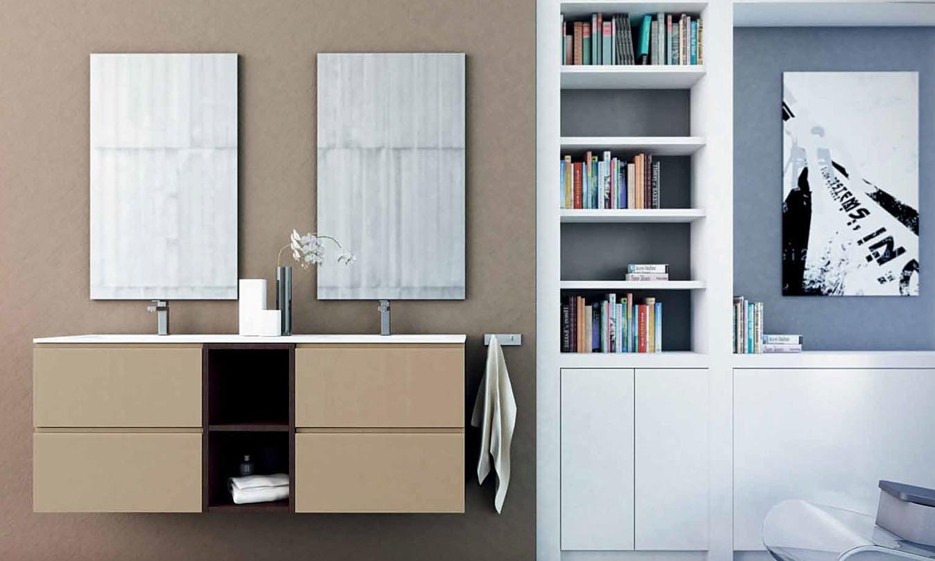 Mueble de Baño LACADO CHAMPAN BRILLO - STRATO WENGE - Ref. 0038