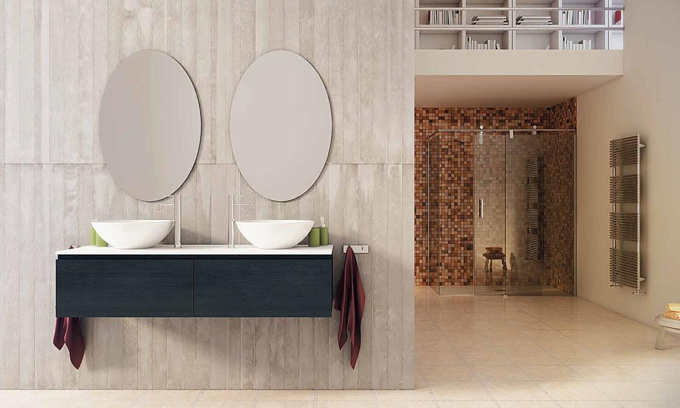 Mueble de Baño MADERA ROBIE GRIS OSCURO - Ref. 0043