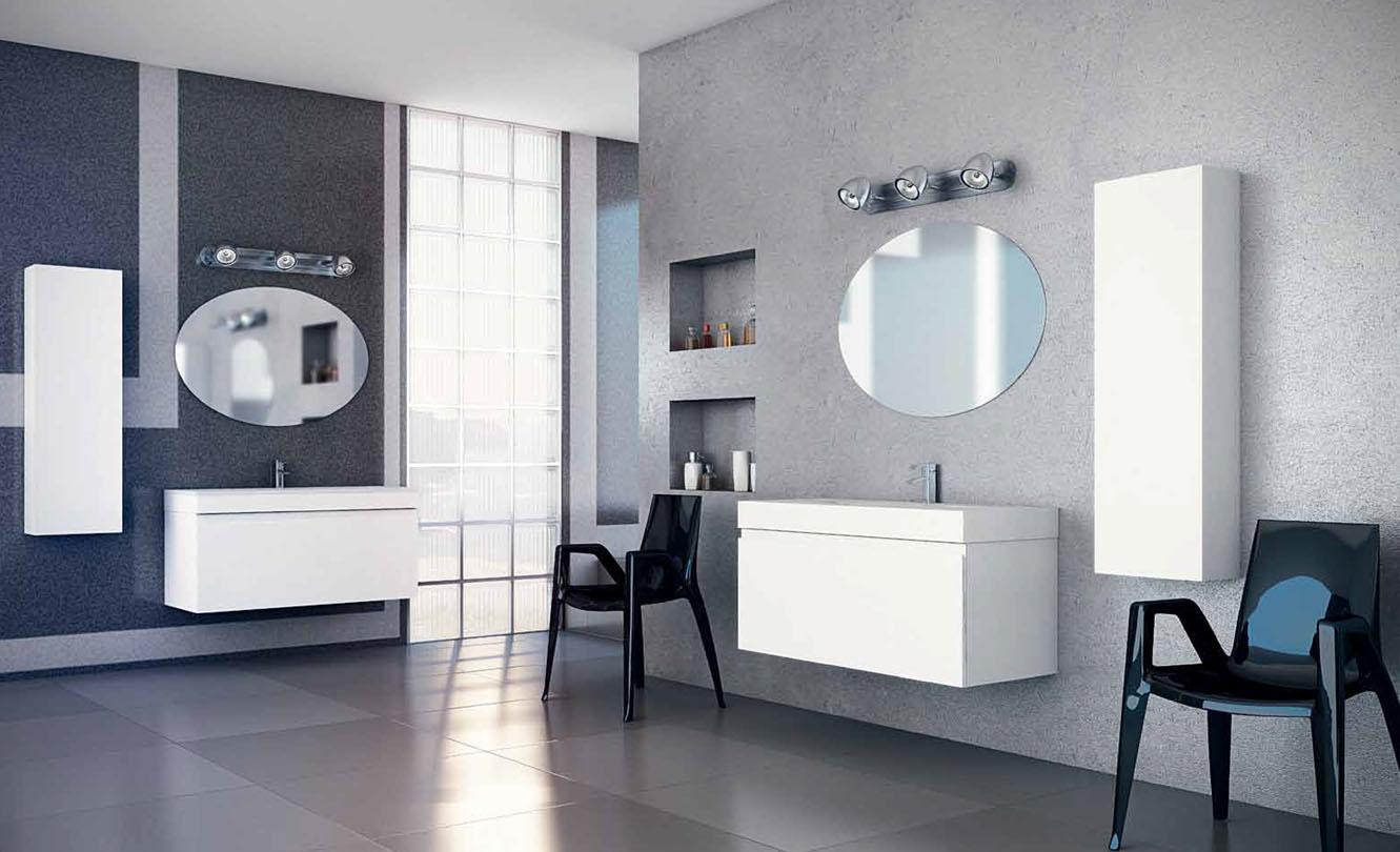 Mueble de Baño LACADO BLANCO MATE - Ref. 0044