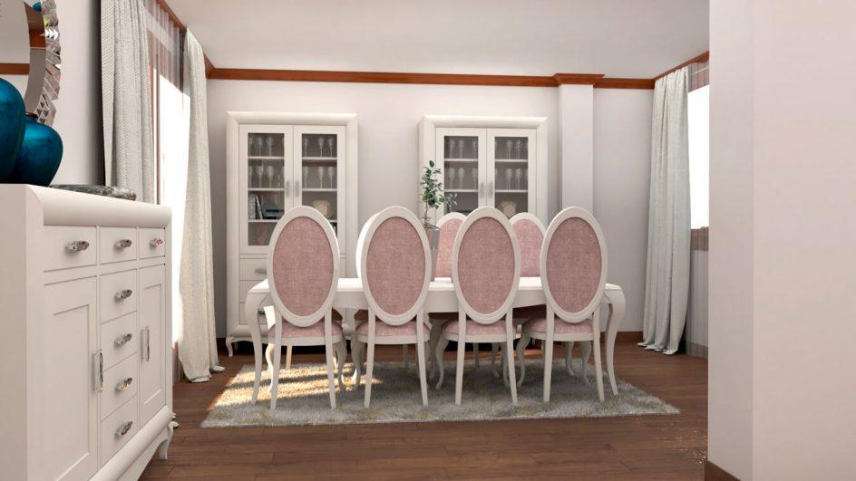 mesa de salon con sillas a medida