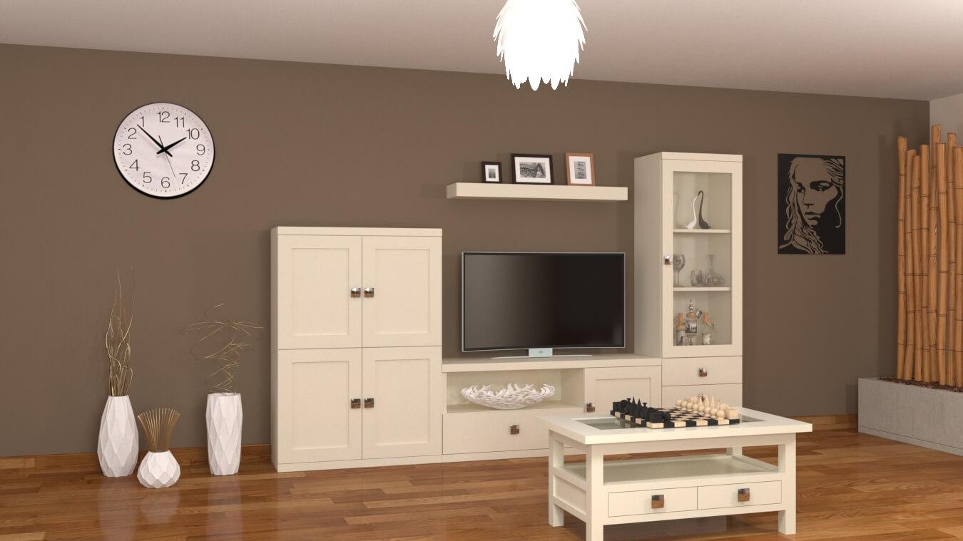 Salón modelo GRANITO SOLAPADO - Ref. 0351