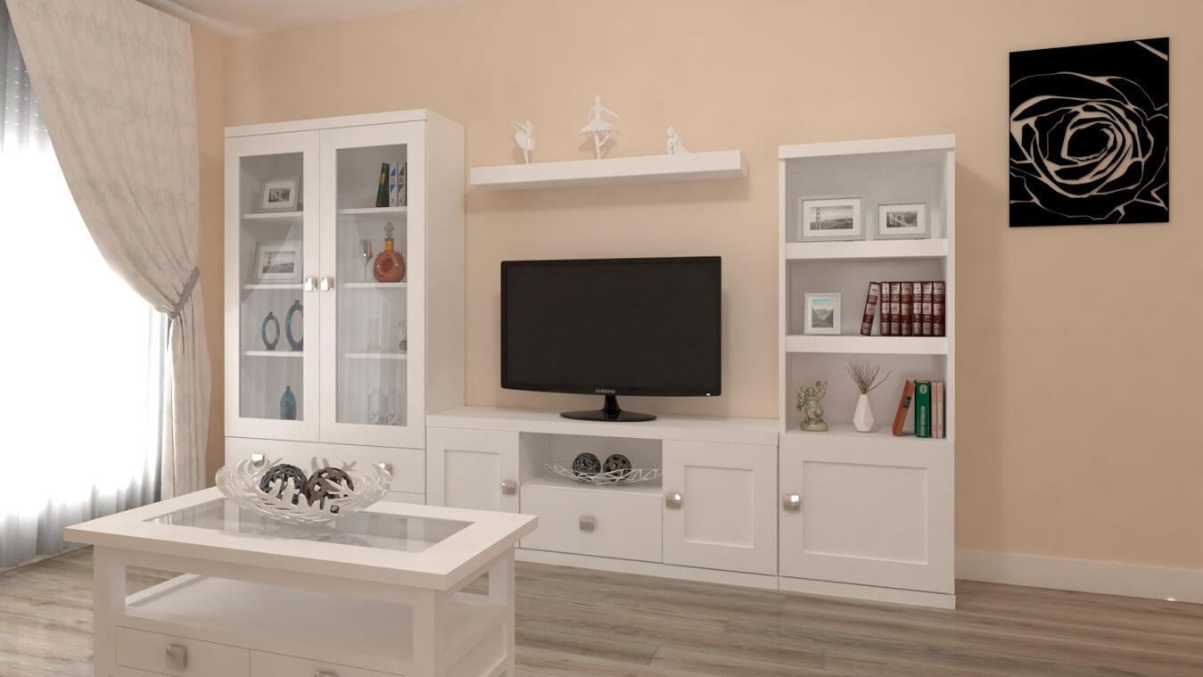 Salón modelo GRANITO SOLAPADO - Ref. 0349
