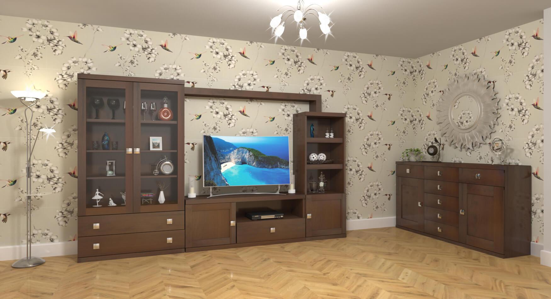 Salón modelo GRANITO SOLAPADO - Ref. 0350
