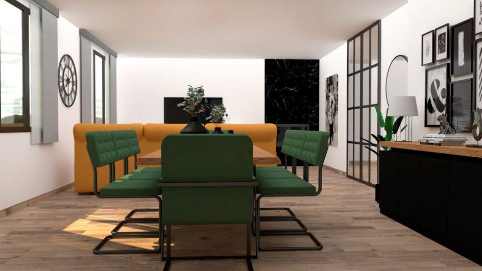 Salón modelo MODERNO - Ref: 0792