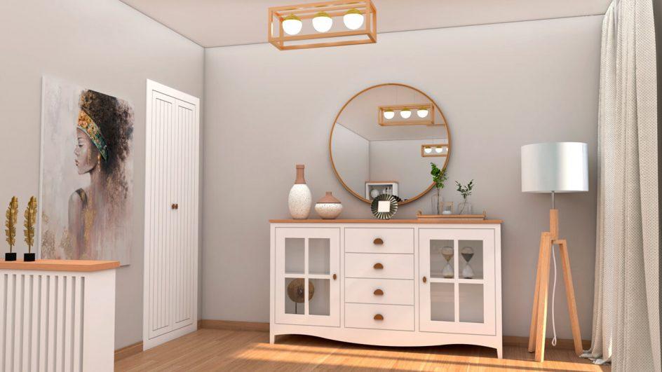 muebles de salon en blanco
