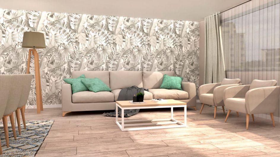 sofas y sillones con mesa