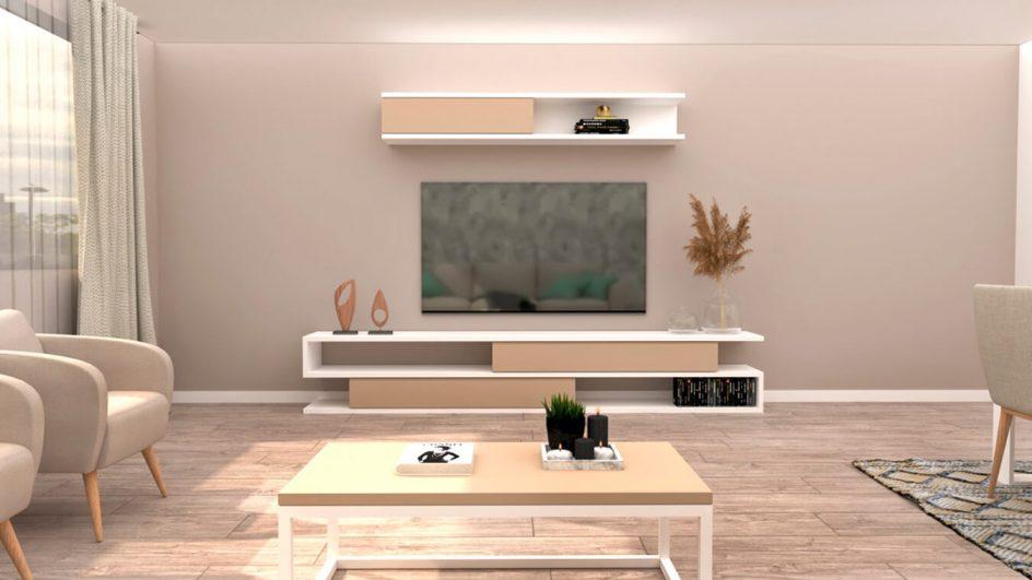 salon estilo moderno con mesa