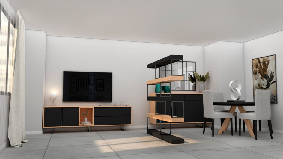 Salón modelo INDUSTRIAL - Ref: 0497