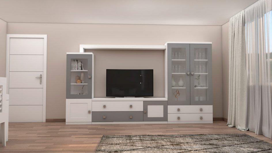 Salón modelo GRANITO SOLAPADO - Ref: 0286