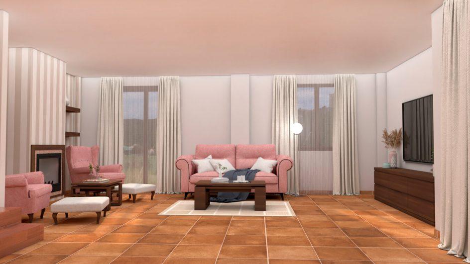 Salón modelo GRANITO SOLAPADO - Ref: 0282