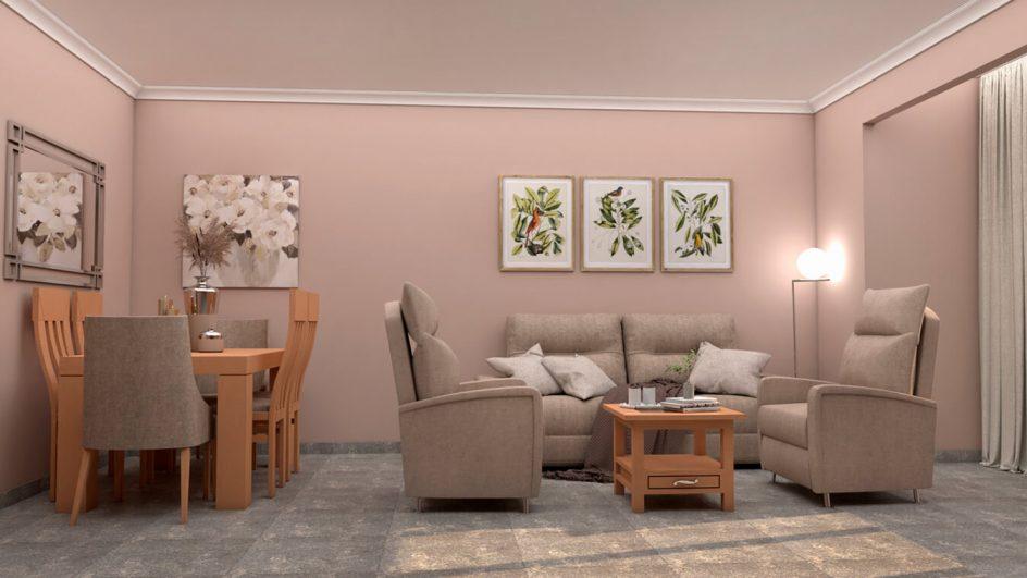 Salón modelo GRANITO SOLAPADO - Ref: 0285