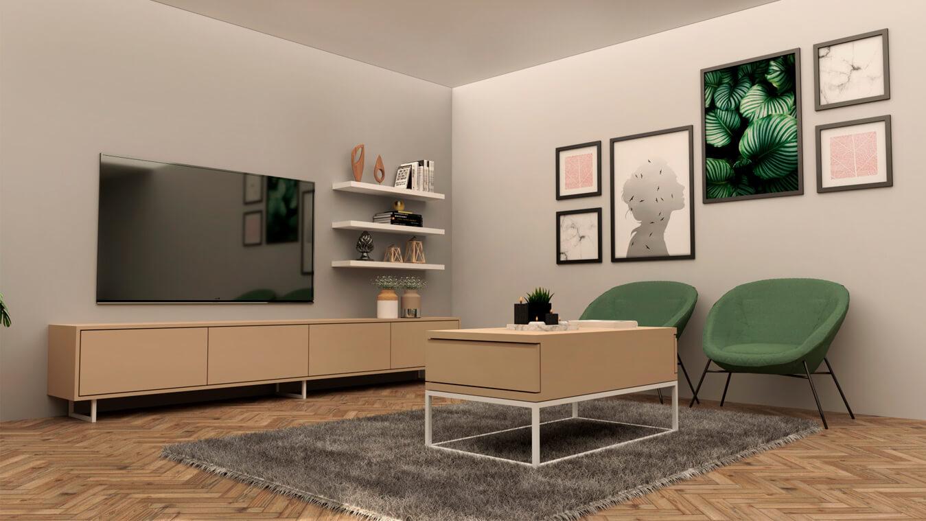 Salón modelo INDUSTRIAL - Ref. 0022