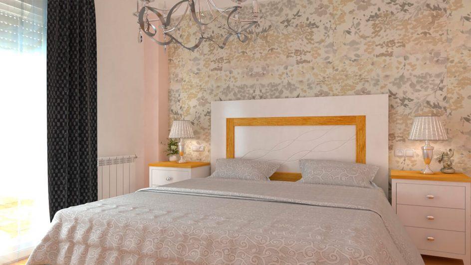 Dormitorio ISABELLA Blanco y Natural - Ref: 0008
