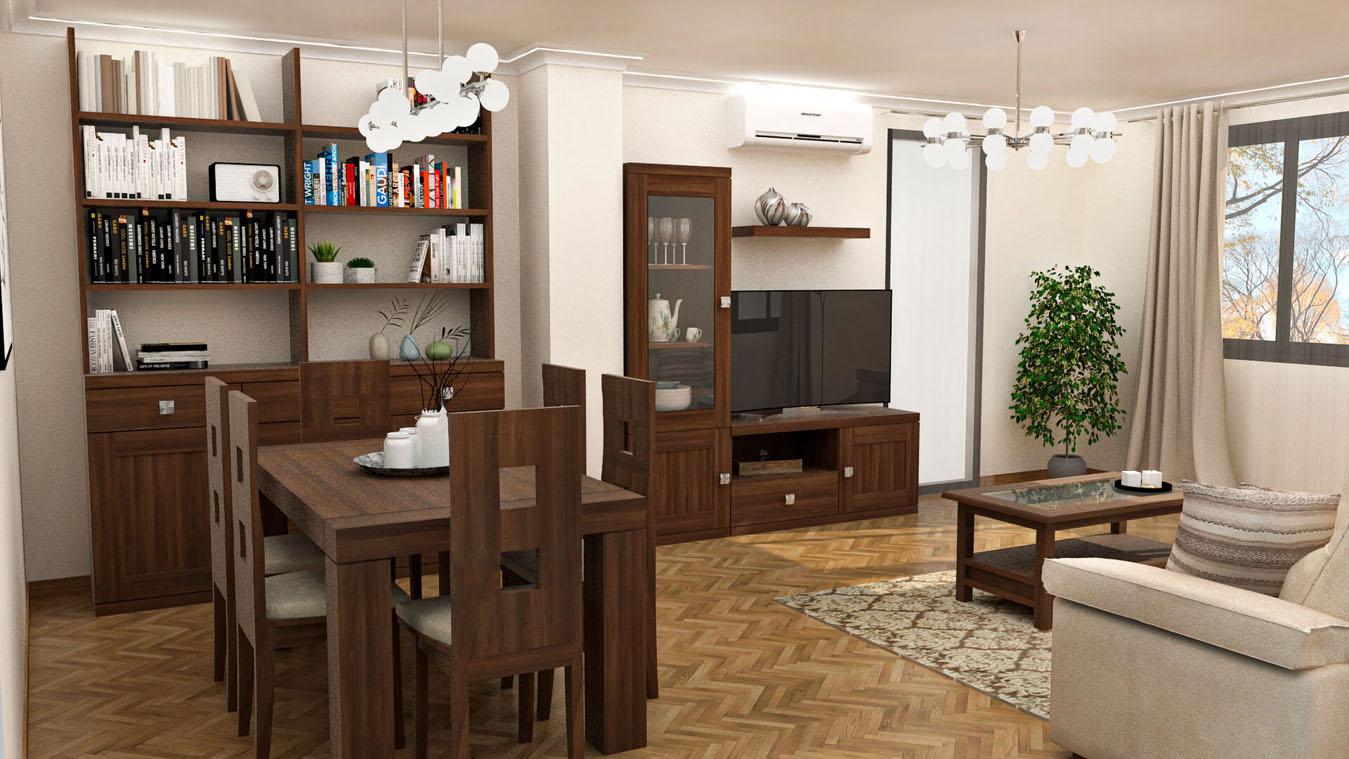 Salón modelo GRANITO SOLAPADO - Ref: 0336